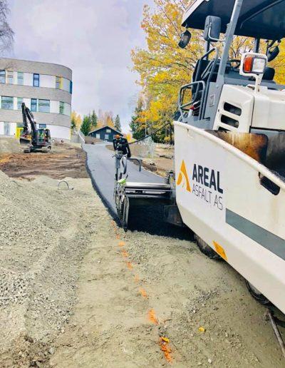 asfaltering av gang og sykkelvei