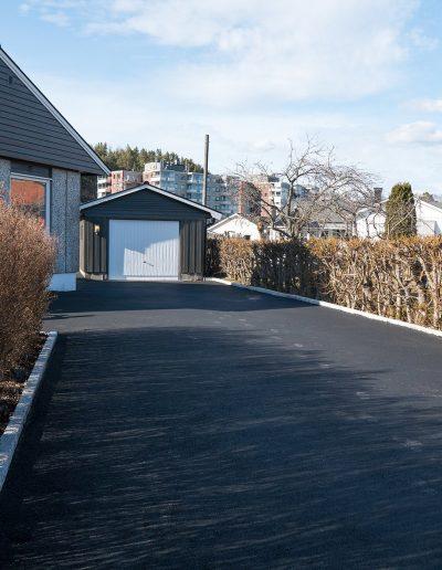 asfaltering av oppkjørsel til garage