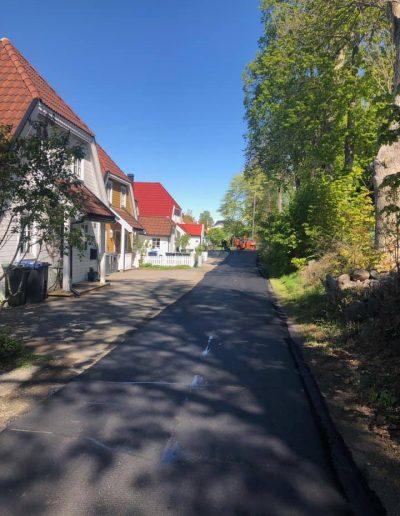 asfaltering i boligområdet