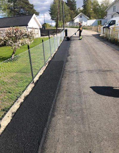 håndlegging av asfalt